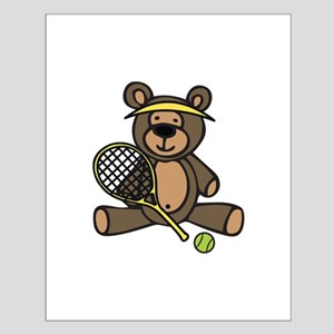 Tennis Teddy Bear Posters