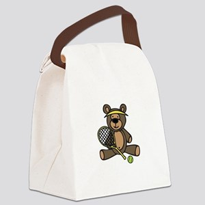 Tennis Teddy Bear Canvas Lunch Bag