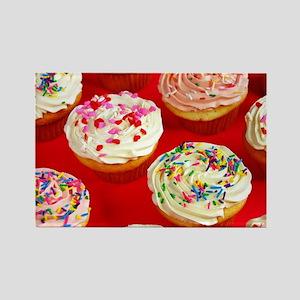 Valentine cupcakes Rectangle Magnet