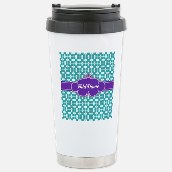 Purple Turquoise Person Stainless Steel Travel Mug