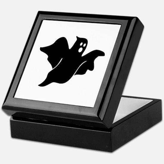 Black scary ghost Keepsake Box