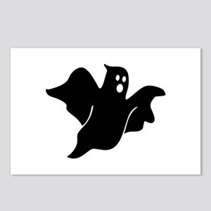 Black scary ghost Postcards (Package of 8)