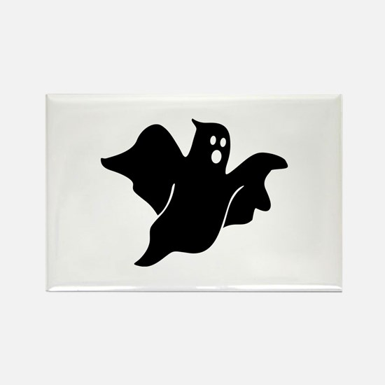 Black scary ghost Rectangle Magnet
