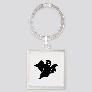 Black scary ghost Square Keychain