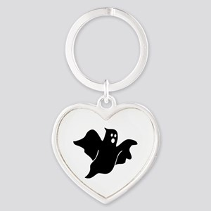 Black scary ghost Heart Keychain