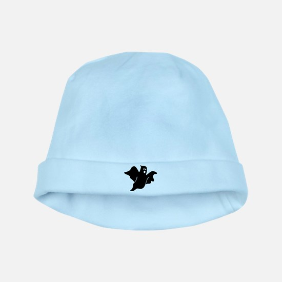 Black scary ghost baby hat