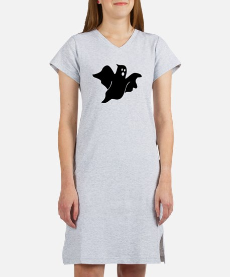 Black scary ghost Women's Nightshirt