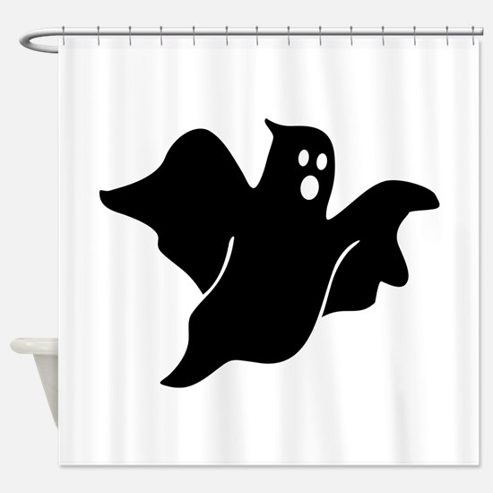 Black scary ghost Shower Curtain