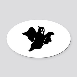 Black scary ghost Oval Car Magnet