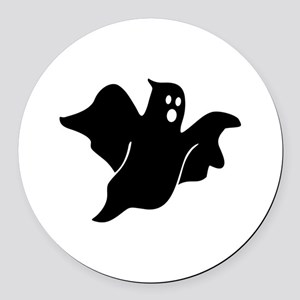 Black scary ghost Round Car Magnet