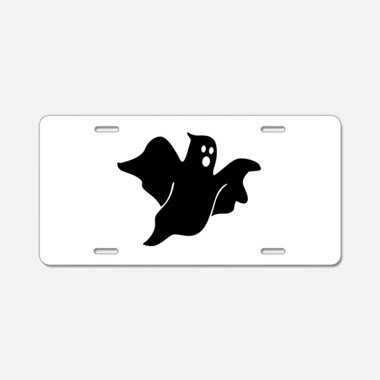 Black scary ghost Aluminum License Plate