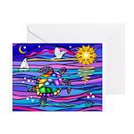 Sea Turtle #4 Greeting Card