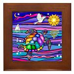 Sea Turtle #4 Framed Tile