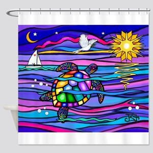 Sea Turtle #4 Shower Curtain