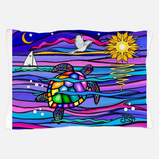 Sea Turtle #4 Pillow Case