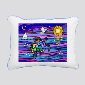 Sea Turtle #4 Rectangular Canvas Pillow