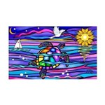 Sea Turtle #4 35x21 Wall Decal