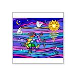 Sea Turtle #4 Square Sticker 3