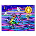 Sea Turtle #4 Small Poster