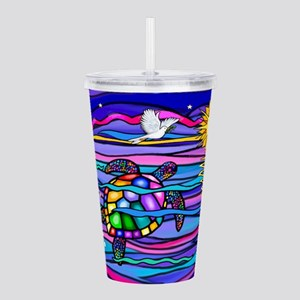 Sea Turtle #4 Acrylic Double-wall Tumbler
