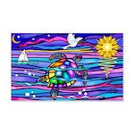 Sea Turtle #4 20x12 Wall Decal