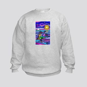 Sea Turtle #4 Kids Sweatshirt