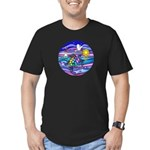 Sea Turtle #4 Men's Fitted T-Shirt (dark)