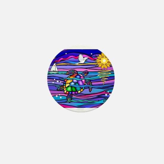 Sea Turtle #4 Mini Button (100 pack)