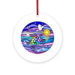 Sea Turtle #4 Ornament (Round)