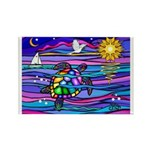 Sea Turtle #4 Rectangle Magnet (100 pack)