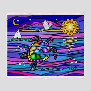 Sea Turtle #4 Throw Blanket