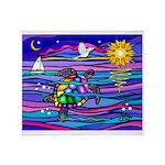 Sea Turtle #4 Throw Blanket