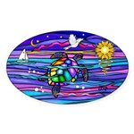 Sea Turtle #4 Sticker (Oval 50 pk)