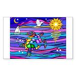 Sea Turtle #4 Sticker (Rectangle)
