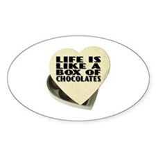 Box Of Chocolates Oval Sticker