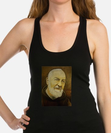 Unique St padre pio Racerback Tank Top