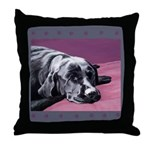 Black Labrador Beauty Sleep Throw Pillow