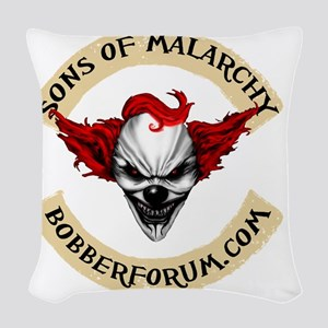 Sons of Malarchy Bobber Forum Woven Throw Pillow