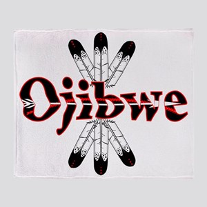Ojibwe Dark Throw Blanket