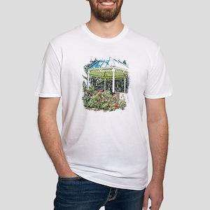 Rose garden gazebo Fitted T-Shirt