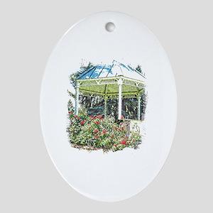 Rose garden gazebo Oval Ornament