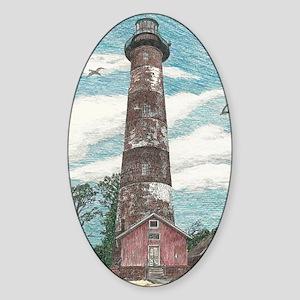 Assateague Island Lighthouse Sticker (Oval)