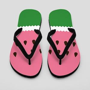 Abstract Watermelon Flip Flops