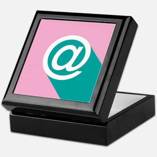 Pink and Green Pop-art At (Ampersat) Keepsake Box