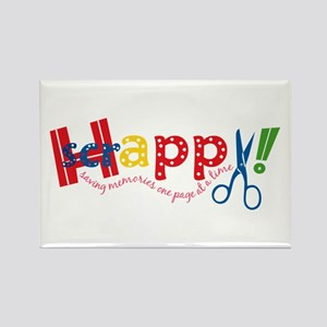 Happy Scrappy Rectangle Magnet