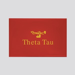 Theta Tau Fraternity Name and Cre Rectangle Magnet