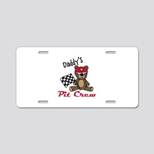 Daddys Pit Crew Aluminum License Plate