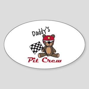 Daddys Pit Crew Sticker