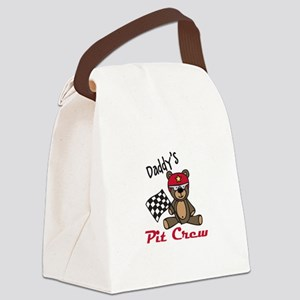 Daddys Pit Crew Canvas Lunch Bag