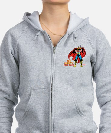 The Mighty Thor Personalized De Zip Hoodie